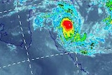 The category two cyclone is heading towards the north-east of Cairns.