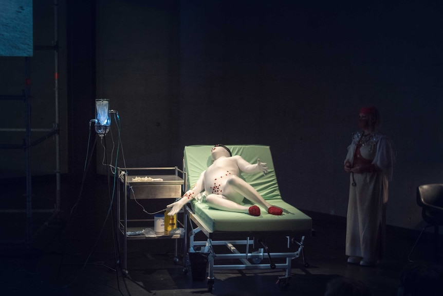 John Douglas performs his artwork about being a medicalised body