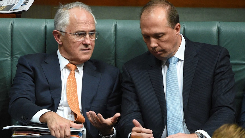 Malcolm Turnbull and Peter Dutton, Feb 2016