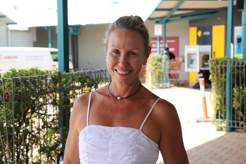 Personal trainer Hollie Goodall stands outside the Nightcliff shops.