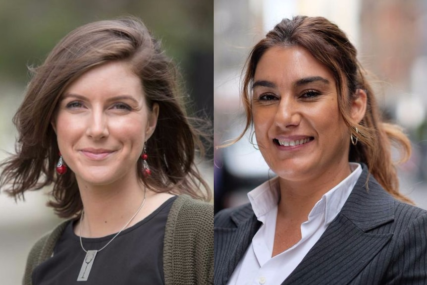 Clare Burns from Labor (left) and Lidia Thorpe from the Greens (right).
