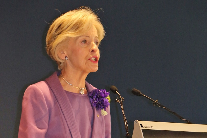Dame Quentin Bryce spoke about how Betty Churcher was a Brisbane girl made good on the international art scene.