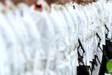 Officer Cadets on parade at ADFA.
