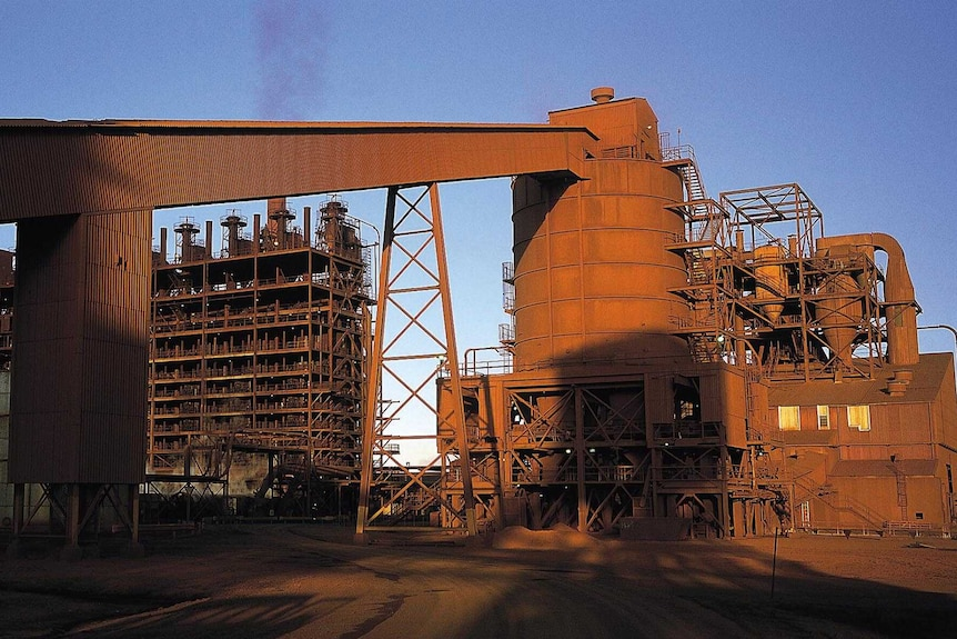 Part of the structures inside the Yabulu nickel and cobalt plant.