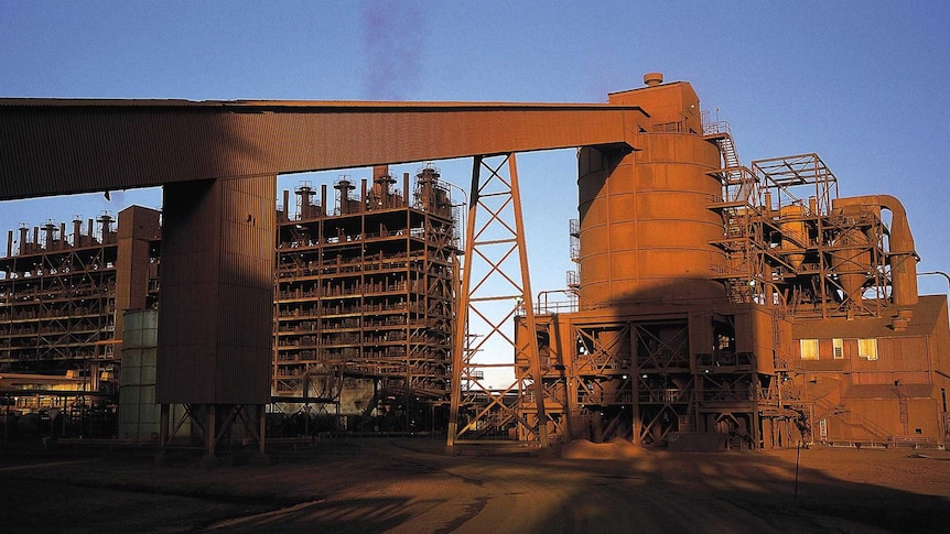 Part of the structures inside the Yabulu nickel plant.