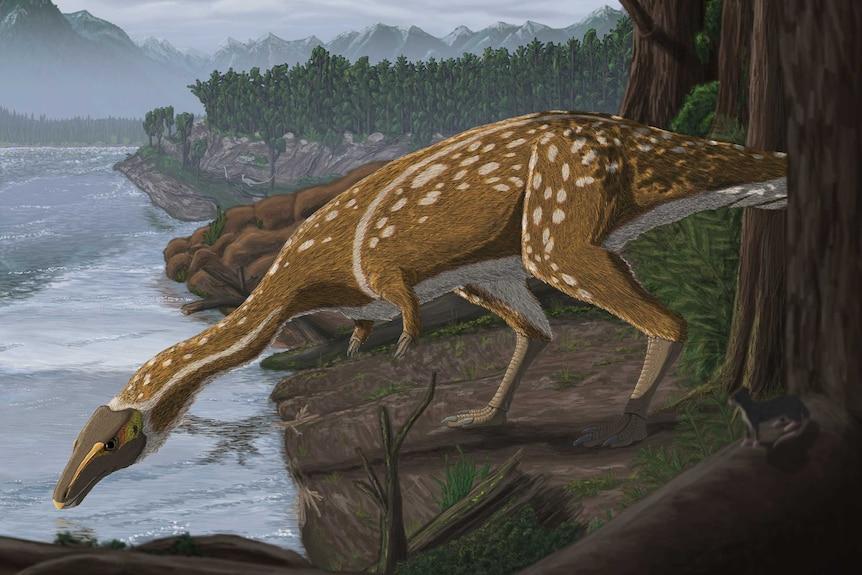 Artist's impression of an elaphrosaur