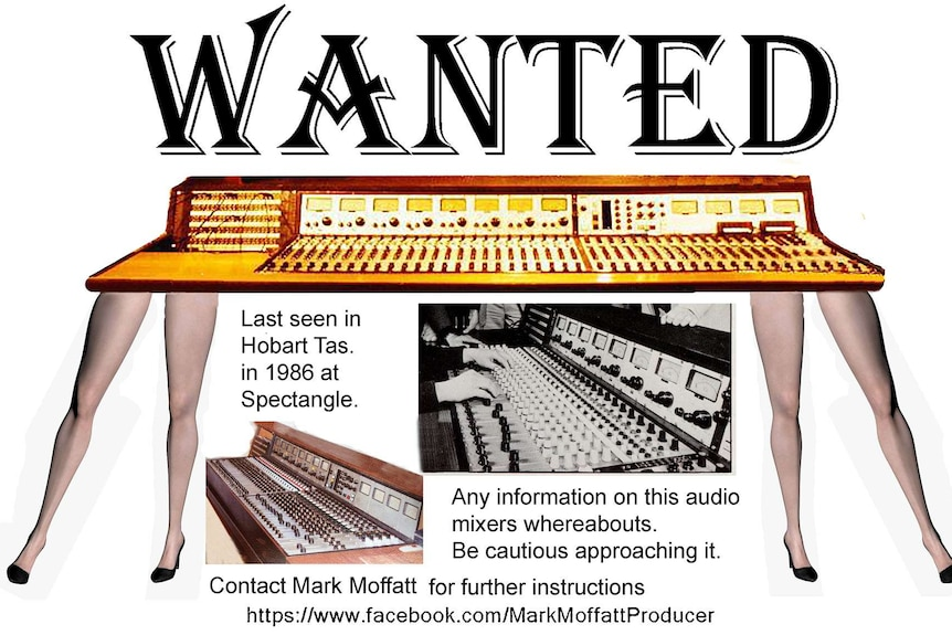 Wanted poster for BWE audio mixing desk.