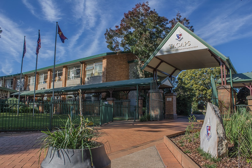 The front facade of a Toowoomba Anglican school