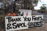 Message of thanks for the CFS, police