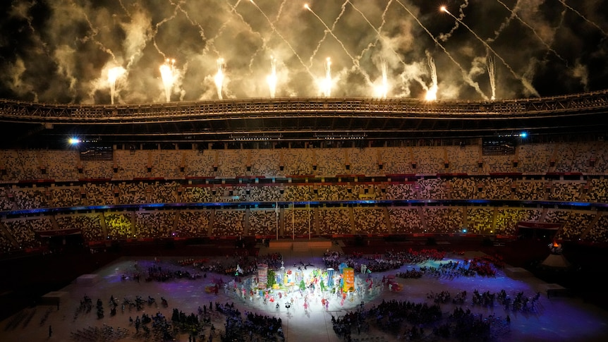 Fireworks go off after Paralympics closing ceremony