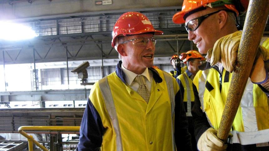 Tony Abbott shown around Port Kembla plant