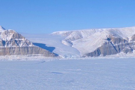 Petermann Glacier's south wall and side glacier.