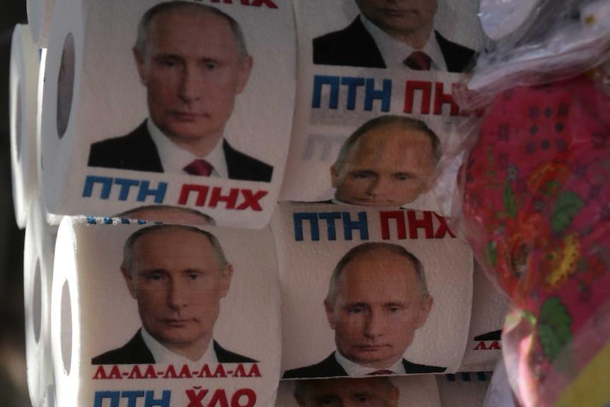 Putin toilet paper