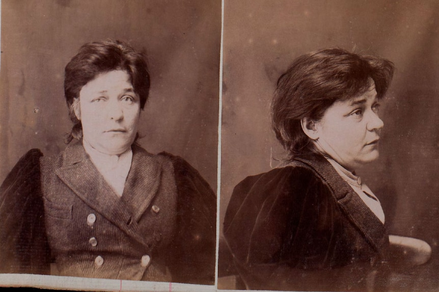 Black and white photos of a woman