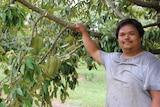 Durian grower Han Shiong Siah
