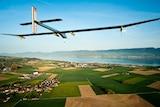 The solar powered plane, Solar Impulse.