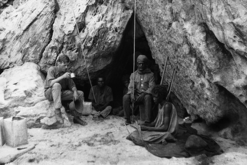 Rock shelter at Cape York in 1927