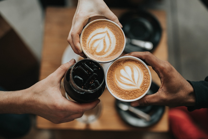 Different styles of coffee.