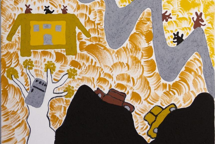 Madeline Purdie's art capturing the Warmun flood.
