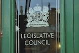 Legislative Council door, Tasmanian parliament