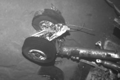 A landing gear found in the Air France 447 wreckage.