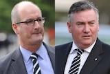 Port Adelaide president David Koch and Collingwood president Eddie McGuire.
