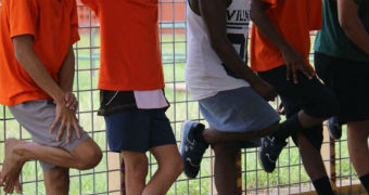 Boys at Don Dale youth detention centre.