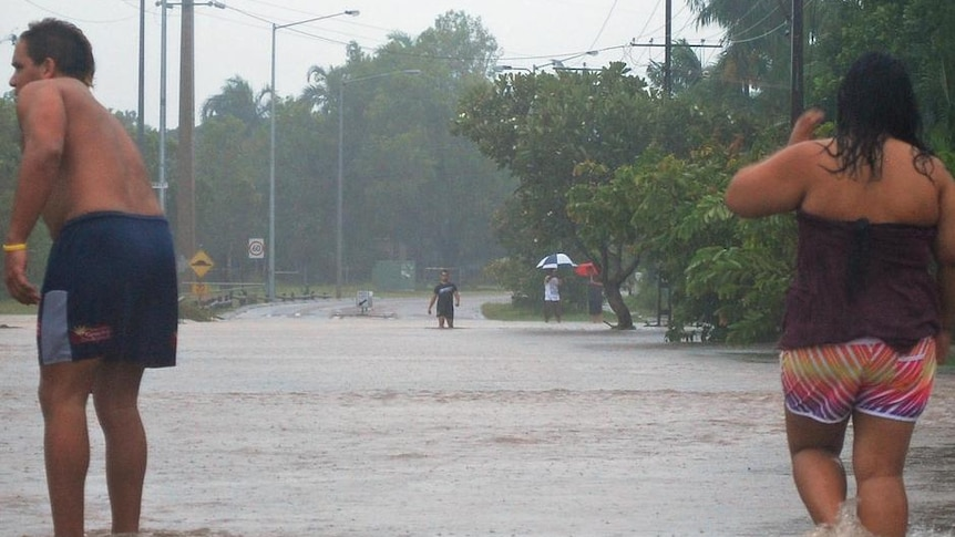 Main roads have been cut by floodwaters and a 6.6-metre high tide is expected later Wednesday.