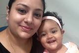 Sofina Nikat with her daughter Sanaya Sahib