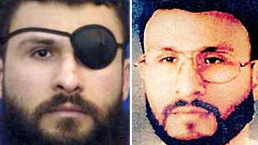 Two photos of the same man. In one, he's wearing an eye patch