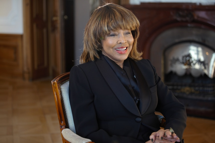 Tina Turner sitting down for an interview in new documentary
