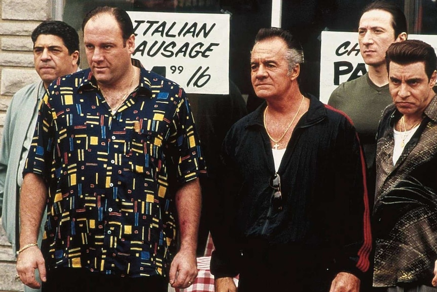 Tony Sopranos and his mobster crew.