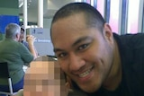 Webbstar Latu pictured in a McDonalds with an infant.