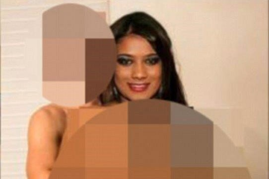 Blurred image of Noelle Martin's head superimposed on a blurred body.