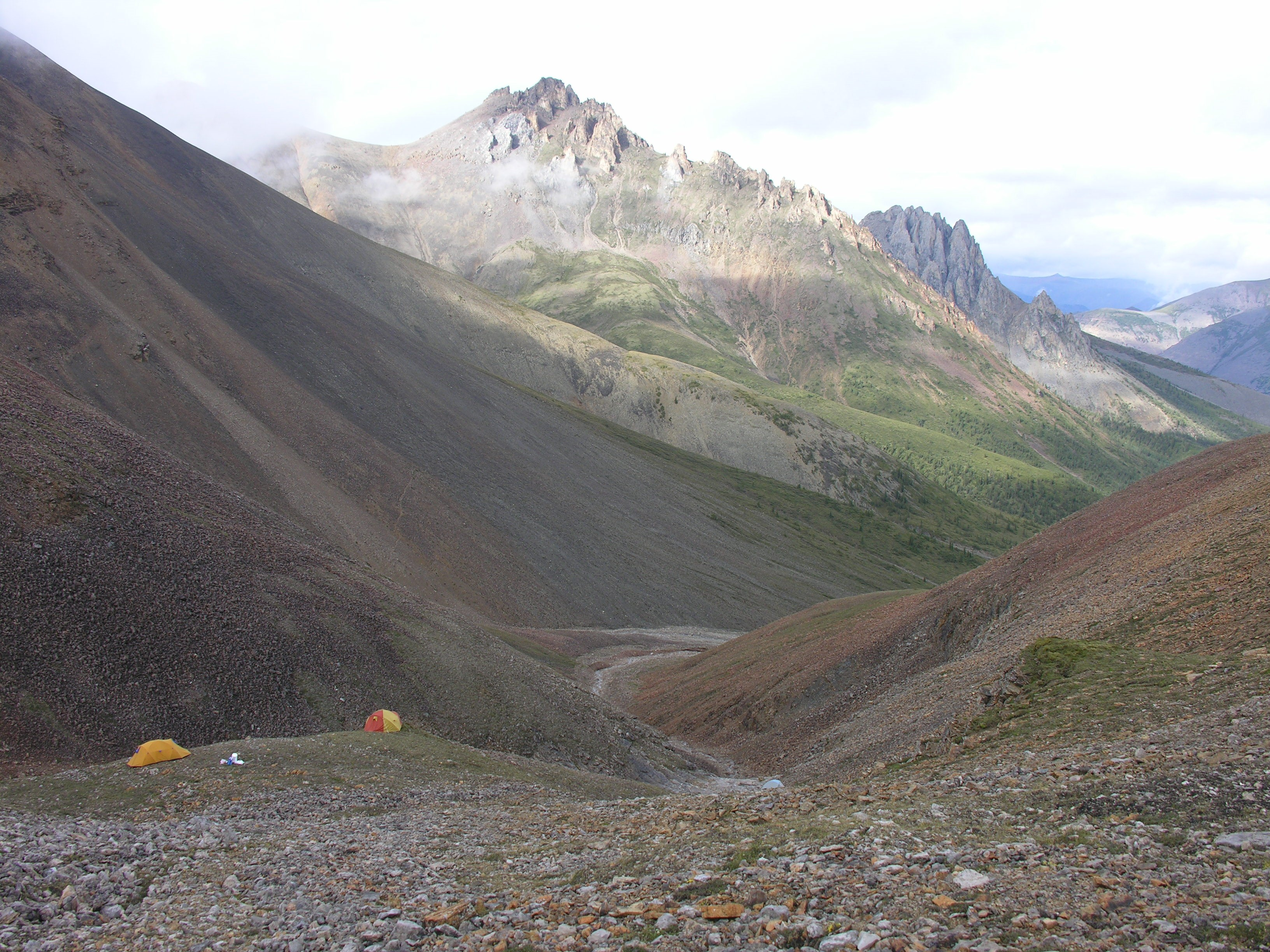 Photo of mountain peaks in northwest Canada