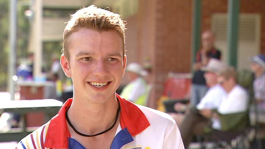 Young SA croquet player Edward Wilson.