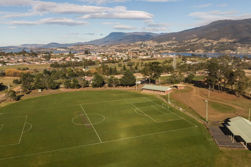 An aerial view of Weily Park.