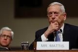 Retired US Marine Corps General James Mattis testifies.