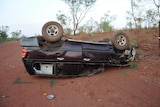 A single vehicle rollover in a remote community in October.