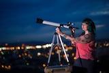 Karlie noon with telescope