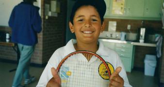 Nick Kyrgios at pennant tennis in Canberra, 7yo