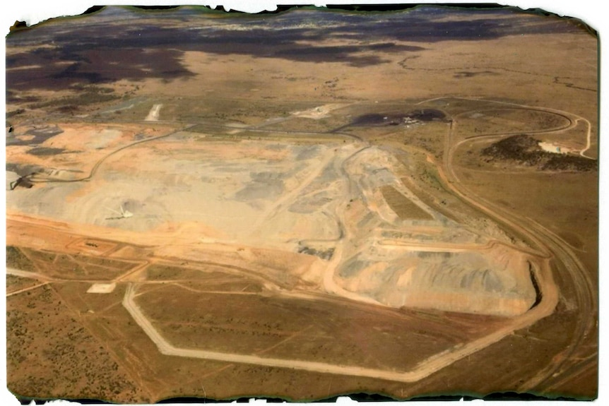 Aerial photo of Isaac Plains coking coal mine near Moranbah in central Queensland.