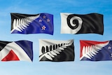 The five flag designs that eligible NZ voters will rank