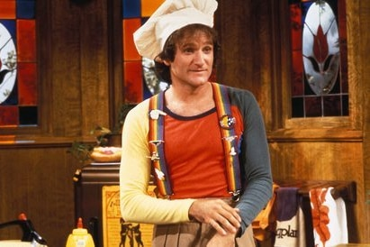Robin Williams as Mork in Mork and Mindy.