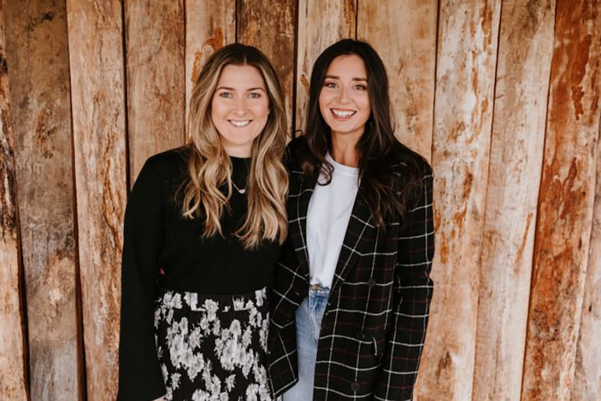 Profile photo of Amy Parfett and Mel McBride, co-founders of online wedding venue service, WedShed.