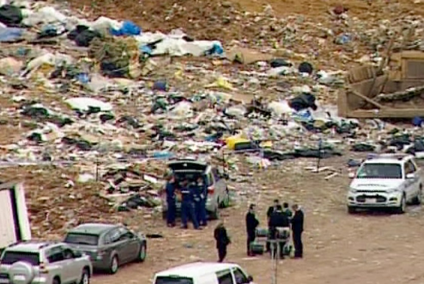 The body was found at the landfill by a worker early on Tuesday morning.