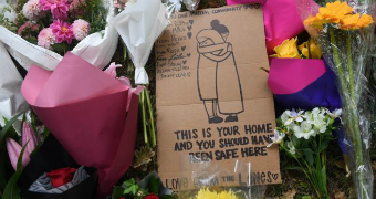 Flower tributes left for the victims of Christchurch shooting