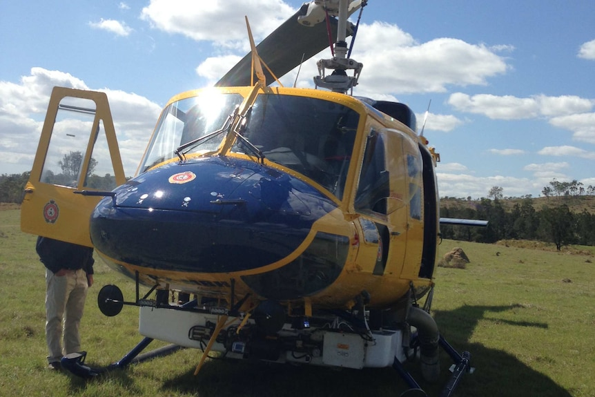 A Bell 214B water-bombing helicopter
