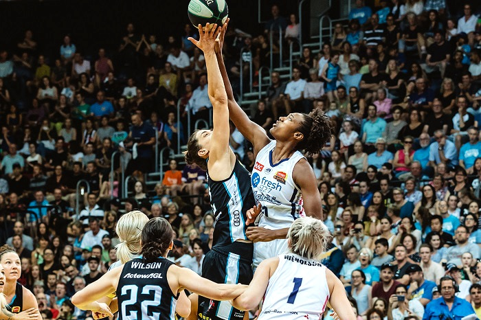 Adelaide Lightning playing Canberra Capitals