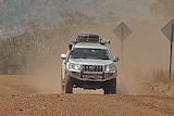 4WD on gravel road